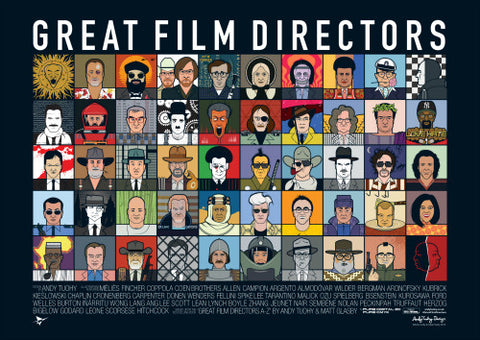 Great Film Directors Poster by Andy Tuohy