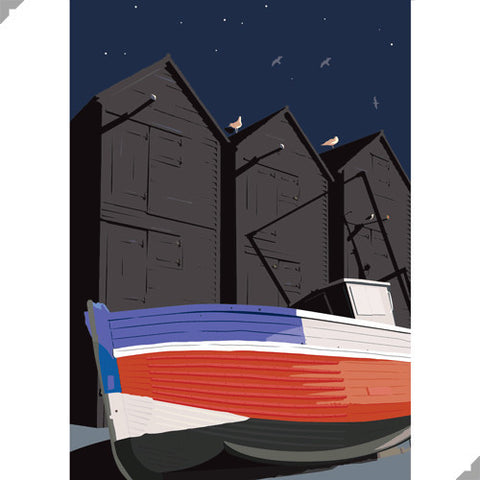 Hasting Net Huts by Andy Tuohy (Limited Edition Print)