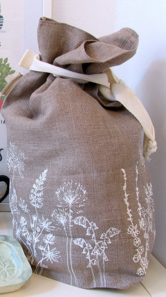 Lombard Street Gallery Margate Helen Round hedgerow linen bread bag
