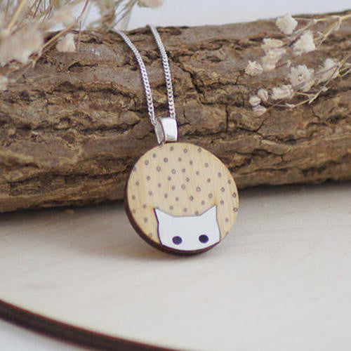 Hello Cat Pendant by Lucy Alice