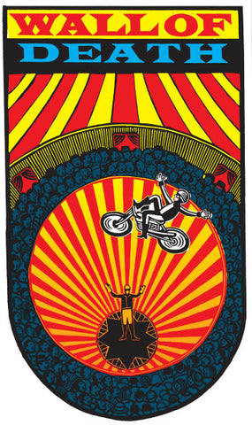 Dreamland Wall of Death by Hugh Ribbans (Limited Edition Print)