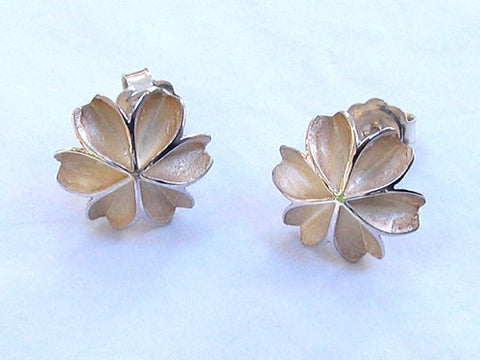 Flower studs by Katherine Priest