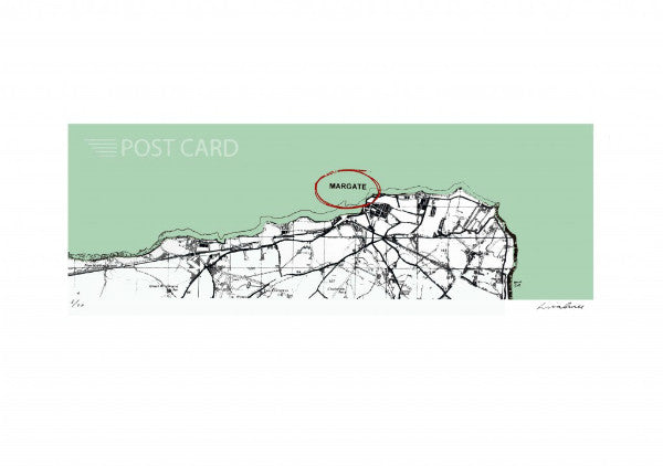 Margate Map by Lisa Jones (limted Edition Print) Lombard Street Gallery Margate