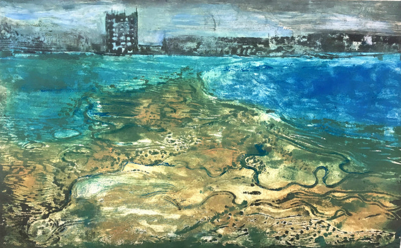 Ruth McDonald Margate Reflection 2 Collagraph Lombard Street Gallery Margate