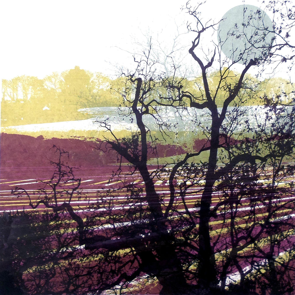 Lombard Street Gallery Margate Ruth McDonald artist printmaker Moonlit Furrows at Stalisfield