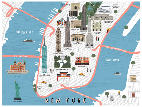 New York map print by Alex Foster (Limited Edition Print)
