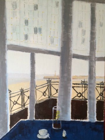 Coffee for One at The Sands by Nick Kelly (Acrylic on Canvas)