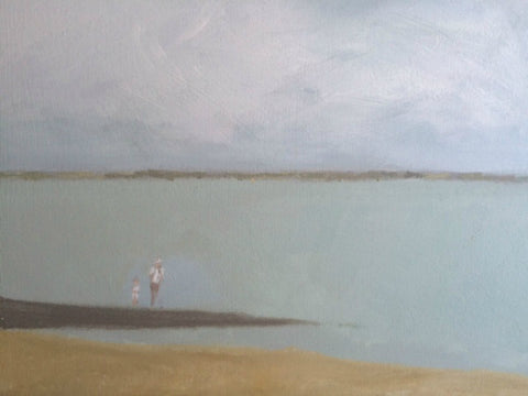 Father, Son and Sheppey by Nick Kelly (Acrylic on Canvas)