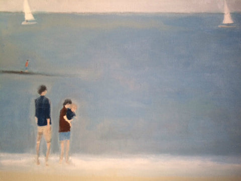 First Swim by Nick Kelly (Acrylic on Canvas)