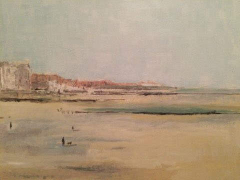 Low Tide, Margate, Looking West by Nick Kelly (Acrylic on Board)