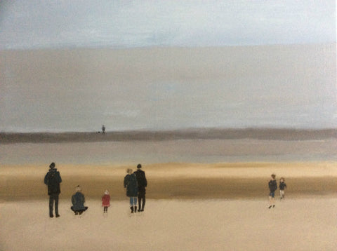 Margate Beach, Winter by Nick Kelly (Acrylic on Canvas)