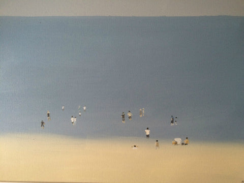 Paddlers at Tankerton by Nick Kelly (Acrylic on Canvas)