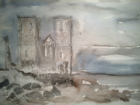 Reculver by Nick Kelly (Watercolour)