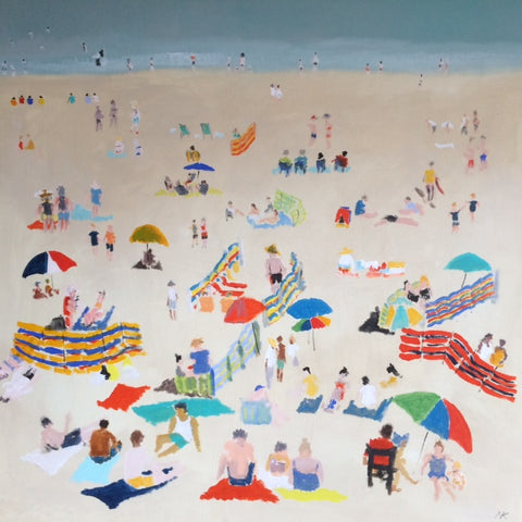 Summer Day, Viking Bay by Nick Kelly (Acrylic on Canvas)