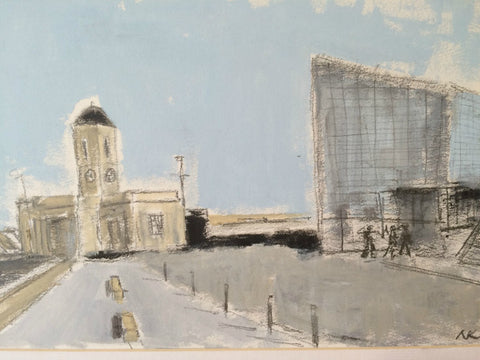 The Droit House and Turner Contemporary, Margate by Nick Kelly (Acrylic on Board)