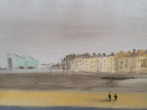 Winter Walk in Margate by Nick Kelly (Acrylic on Canvas)