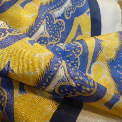 Scarf: Clouds pattern from an original design by Walpole Champneys