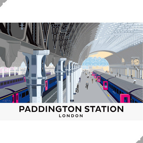 Lombard Street Gallery Margate Andy Tuohy Paddington Station Limited edition giclee print