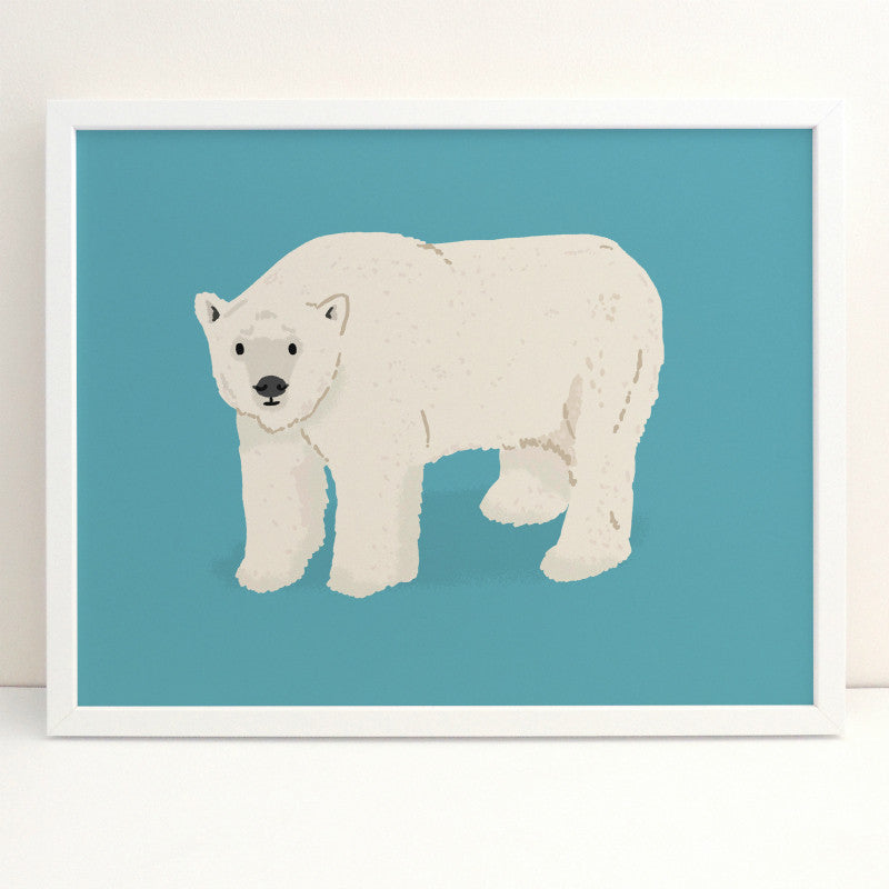Polar Bear Print by Alex Foster Lombard Street Gallery Margate