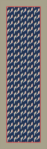 Scarf: Sailor pattern from an original design by Walpole Champneys