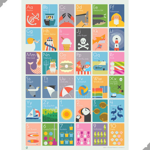 Lombard Street Gallery Margate Andy Tuohy Seaside A to Z Poster