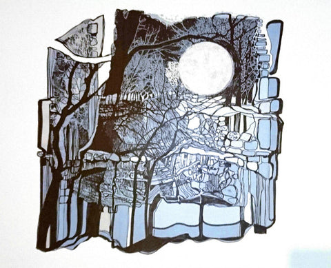 Supermoon in Ancient Times by Ruth McDonald (Limited Edition Screenprint)