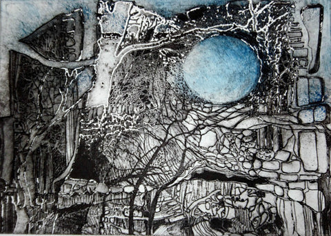 Supermoon in Ancient Times by Ruth McDonald (Limited Edition Etching)
