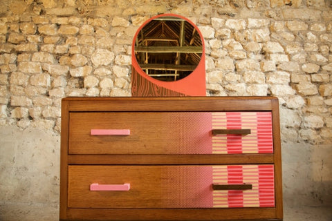 1950s Flamingo inspired dressing table by Zoe Murphy