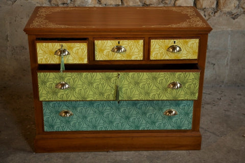 William Morris inspired chest by Zoe Murphy