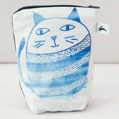 Cat zip purse by The Black Rabbit