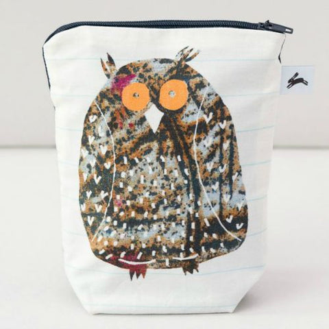 Owl zip purse by The Black Rabbit