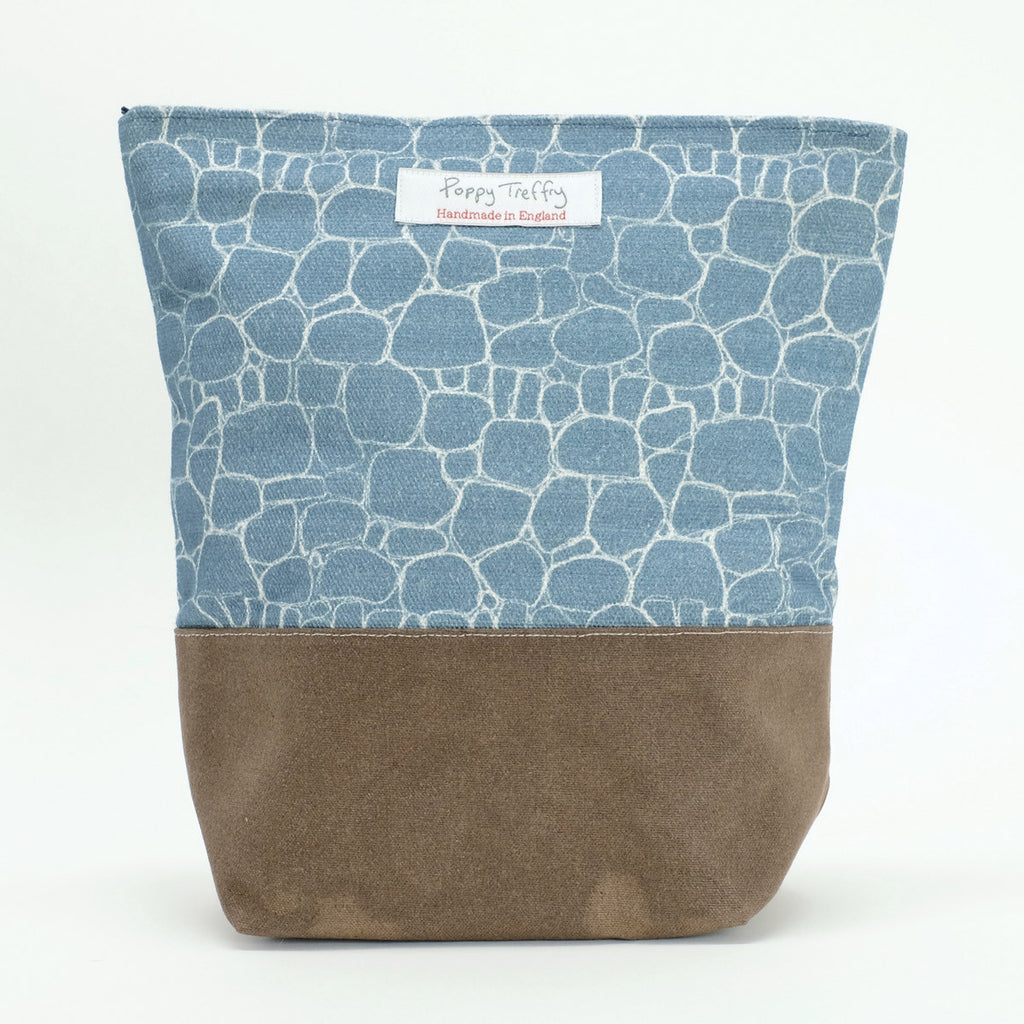 Drystone Wall Washbag by Poppy Treffry Lombard Street Gallery Margate