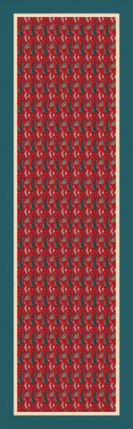 Scarf: For the Sake of Red pattern from an original design by Walpole Champneys