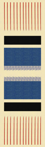 Scarf: Stripes pattern from an original design by Walpole Champneys