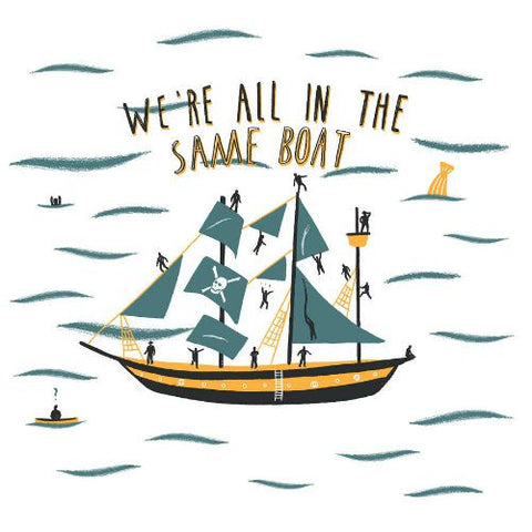 We're all in the same boat by Alex Foster (Limited Edition Print)