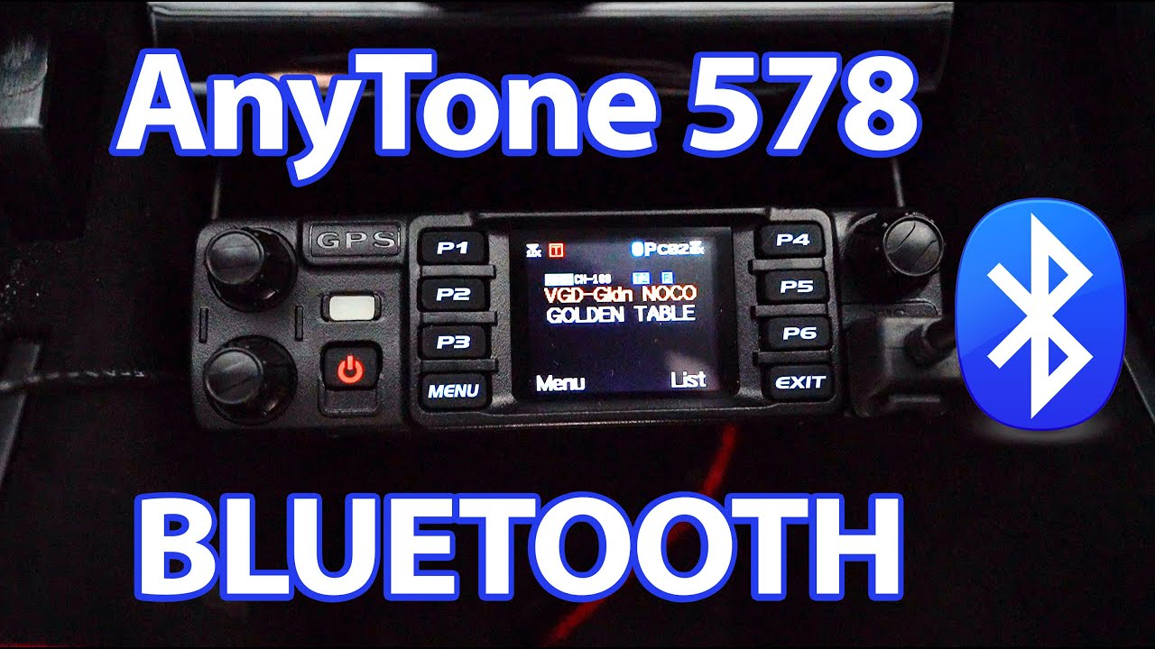 K0LWC Tutorials the AnyTone 578 Bluetooth Functionality in his Tesla