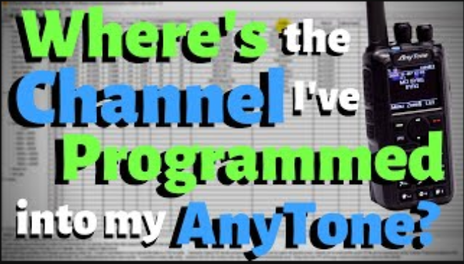 Why can't I see the channel I programmed in my AnyTone?