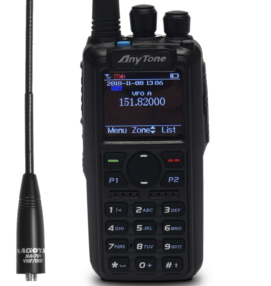Great dual band DMR and analog portable, supported and works very well.