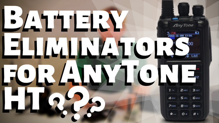 Do the AnyTone DMR Handhelds have 12V Battery Eliminators?
