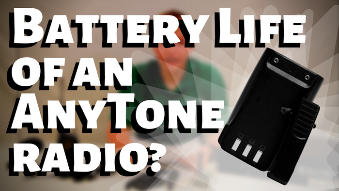 What is the Battery Life of an AnyTone Radio With a 3100mAh Battery?