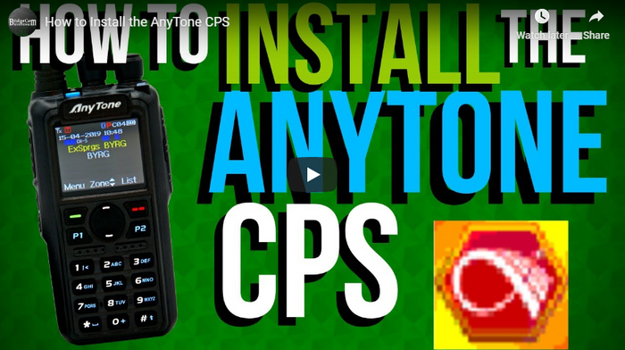 How to install the AnyTone CPS