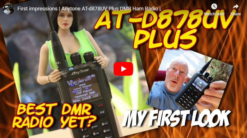 Bob, K6UDA, AnyTone 878 PLUS Review + Giveaway