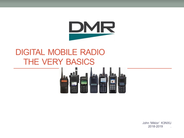 "John 'Miklor' K3NXU DMR ""The Very Basics"" Guide"