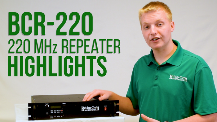 BridgeCom 220MHz BCR-220 (30W) 2-Way Repeater Product Specs and Key Feature Overview