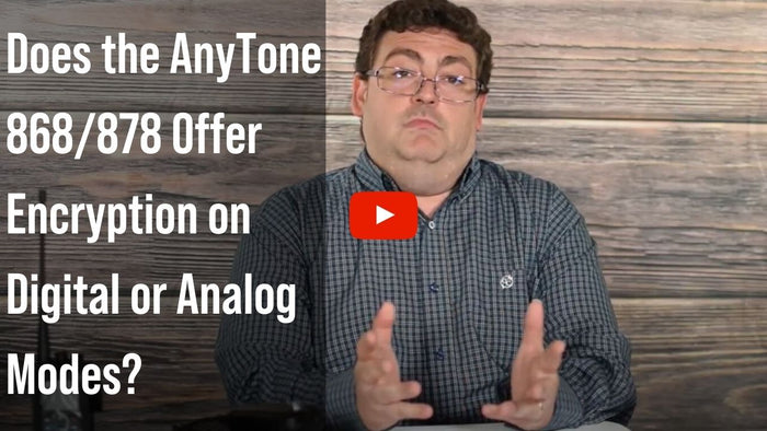 Do the AnyTone Handhelds Offer Encryption?