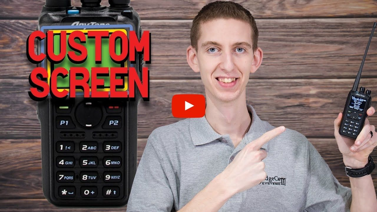 How to Customize the Screen of an AnyTone DMR Handheld