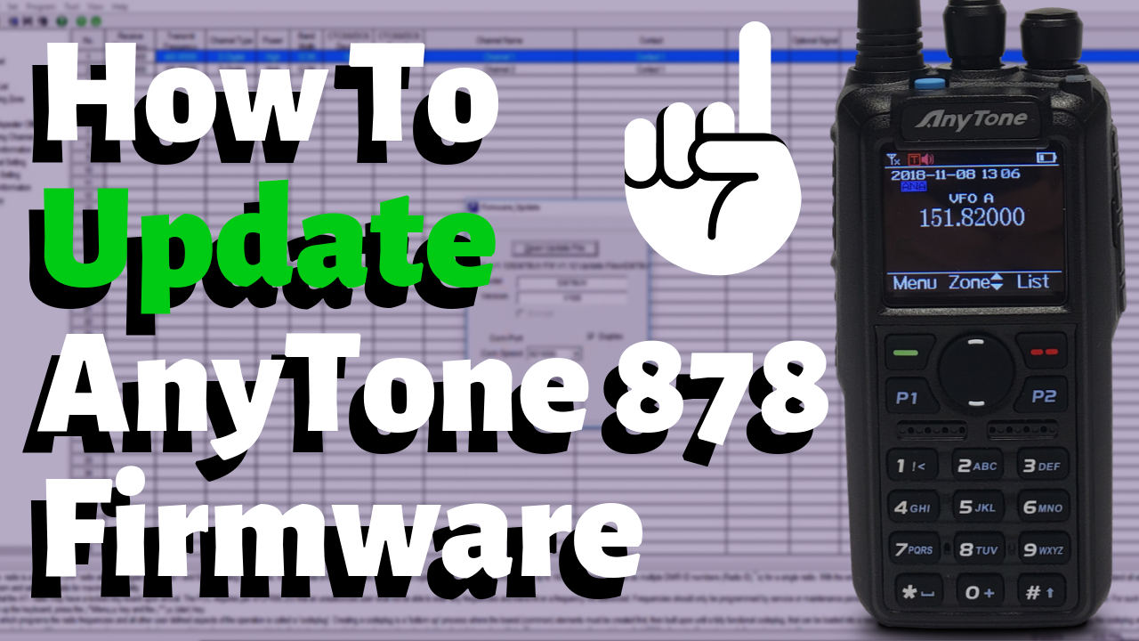 How to update the firmware on the AnyTone 878