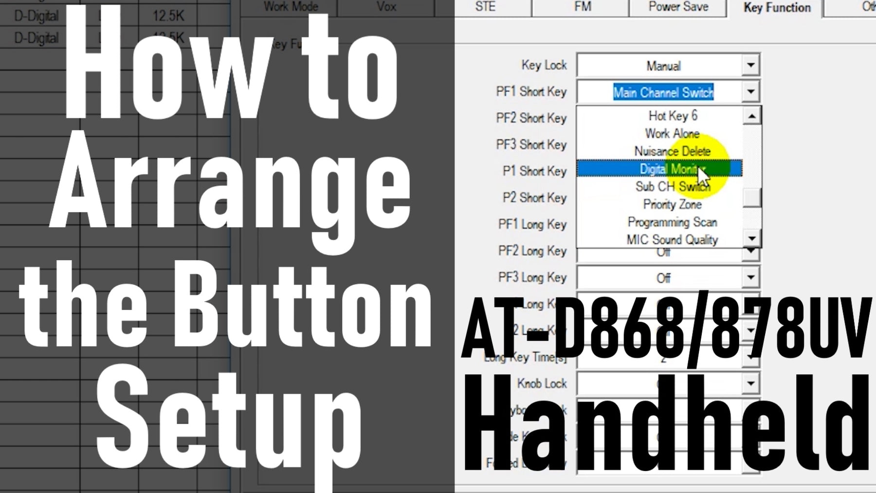 How-To Set up the programmable buttons on your AnyTone 868/878