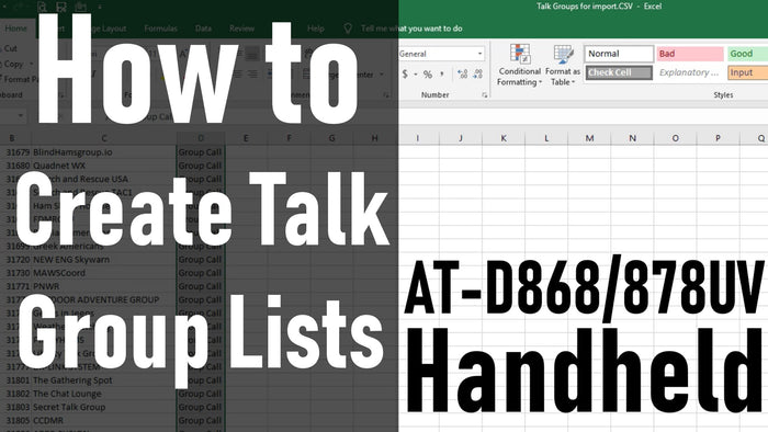 How to Create Talk Group Lists 868/878