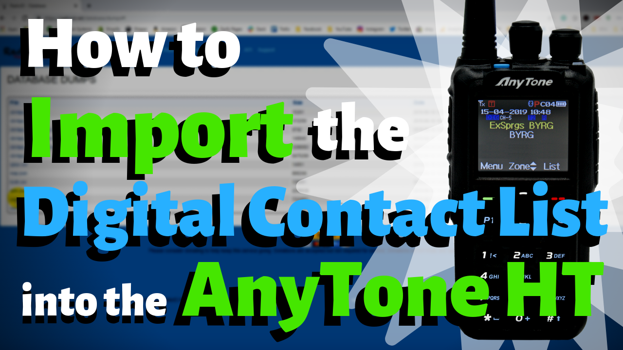 How To Import the Digital Contact List